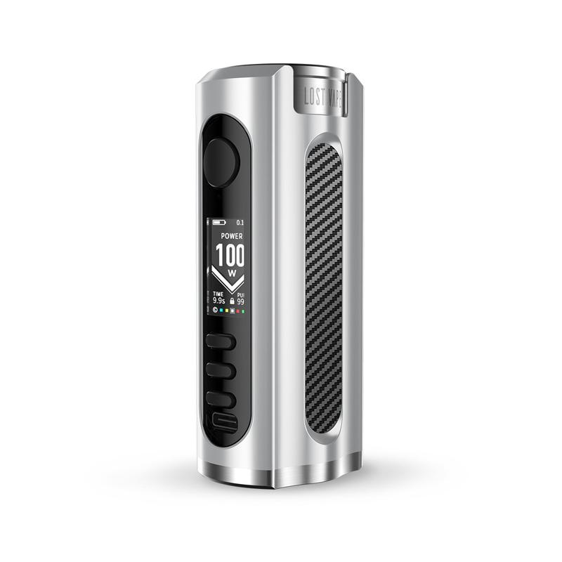 Elektronický grip: Lost Vape Grus Mod (SS / Carbon Fiber)