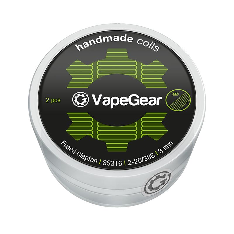 VapeGear Handmade Coils Fused Clapton, SS316, 2ks, 2-26/38G, 3mm