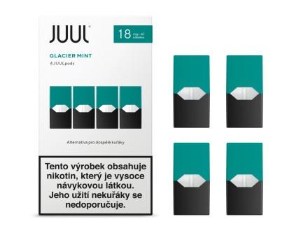JUUL Labs Inc. Cartridge Glacier Mint 18mg 4ks