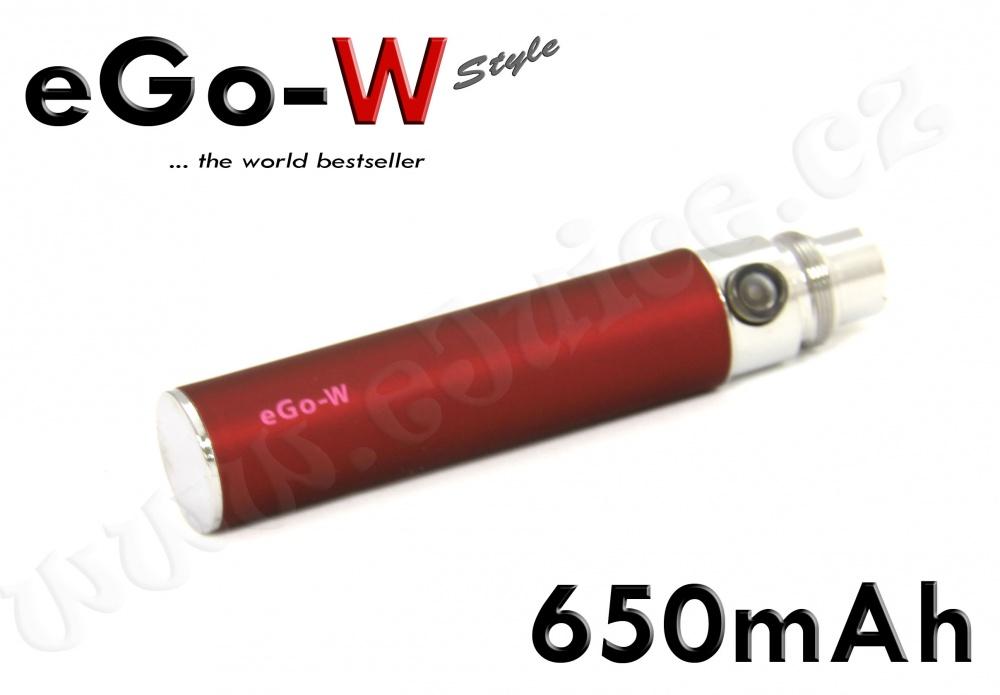 [!Doprodej] - Baterie eGo-W - (650mAh) - MANUAL (Vínová)