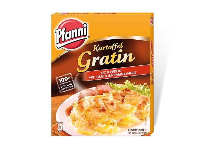 Gratinovaný brambor PFANNI hotový se sýrovou a bešamelovou omáčkou 4OOG