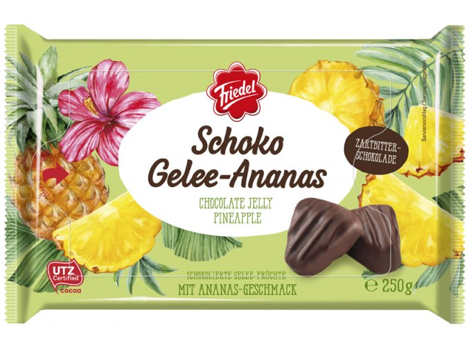 Čokoládové želé ananas 250 g
