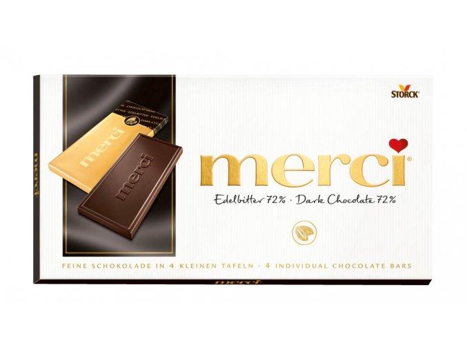 Merci tabulková čokoláda hořká 72% 100g