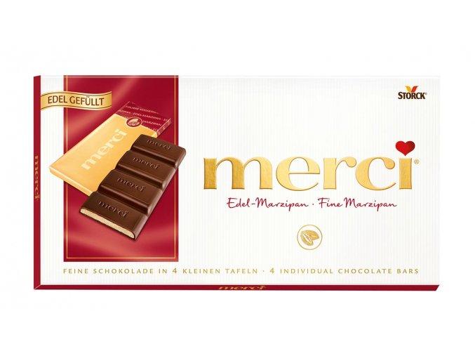 Merci tabulková čokoláda marcipán 112g