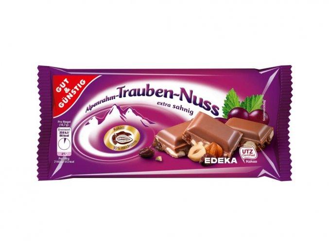 5928 g g jemna alpska cokolada s rozinkami a orisky 100g