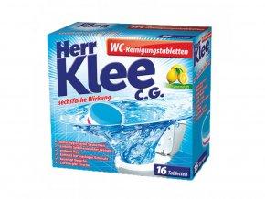 5955 klee wc reinigungstabletten cistici tablety toalet s vuni citronu 16 ks