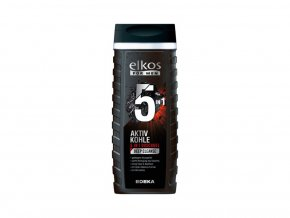 3499 1 elkos men aktivni uhli 5v1 sprchovy gel 300ml