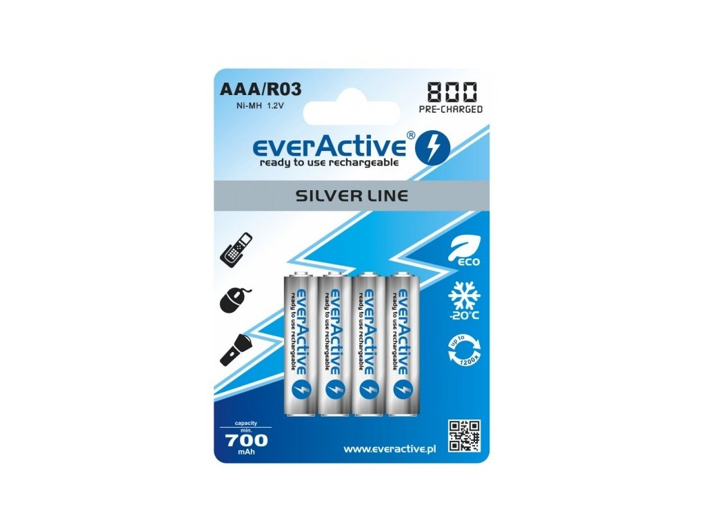 1311 baterie everactive silver line aaa 800mah 4ks blistr