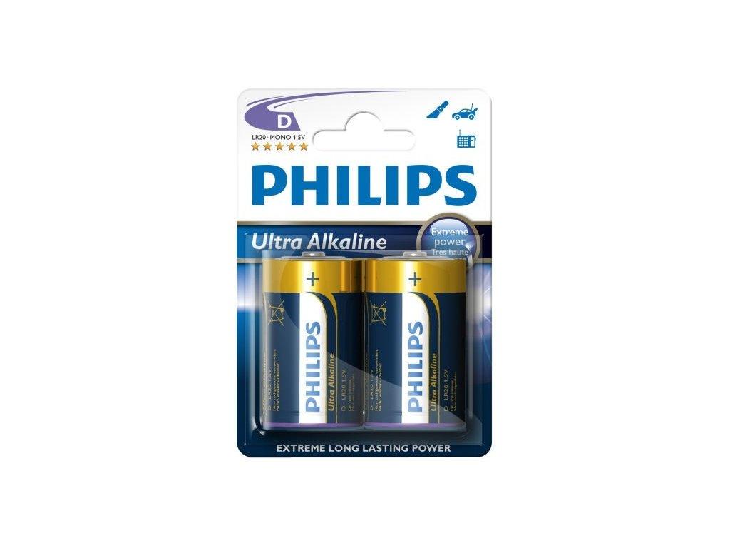 1749 baterie philips ultra alkaline d 2ks blistr