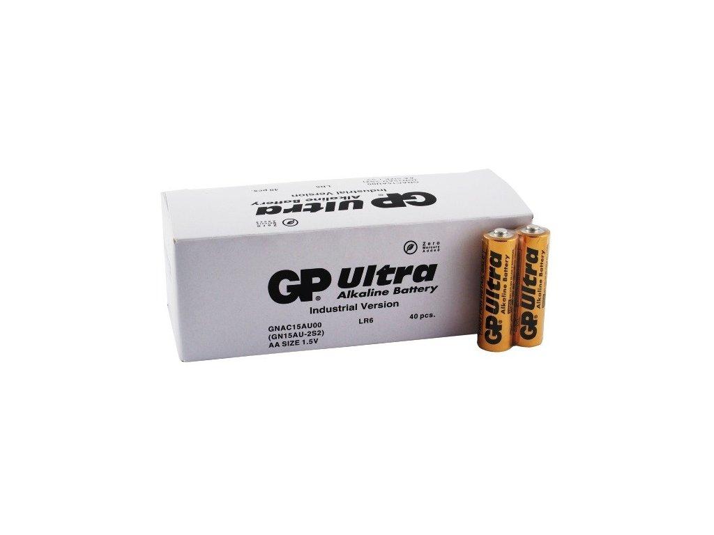 1779 baterie gp ultra alkaline industrial aa 40ks krabice