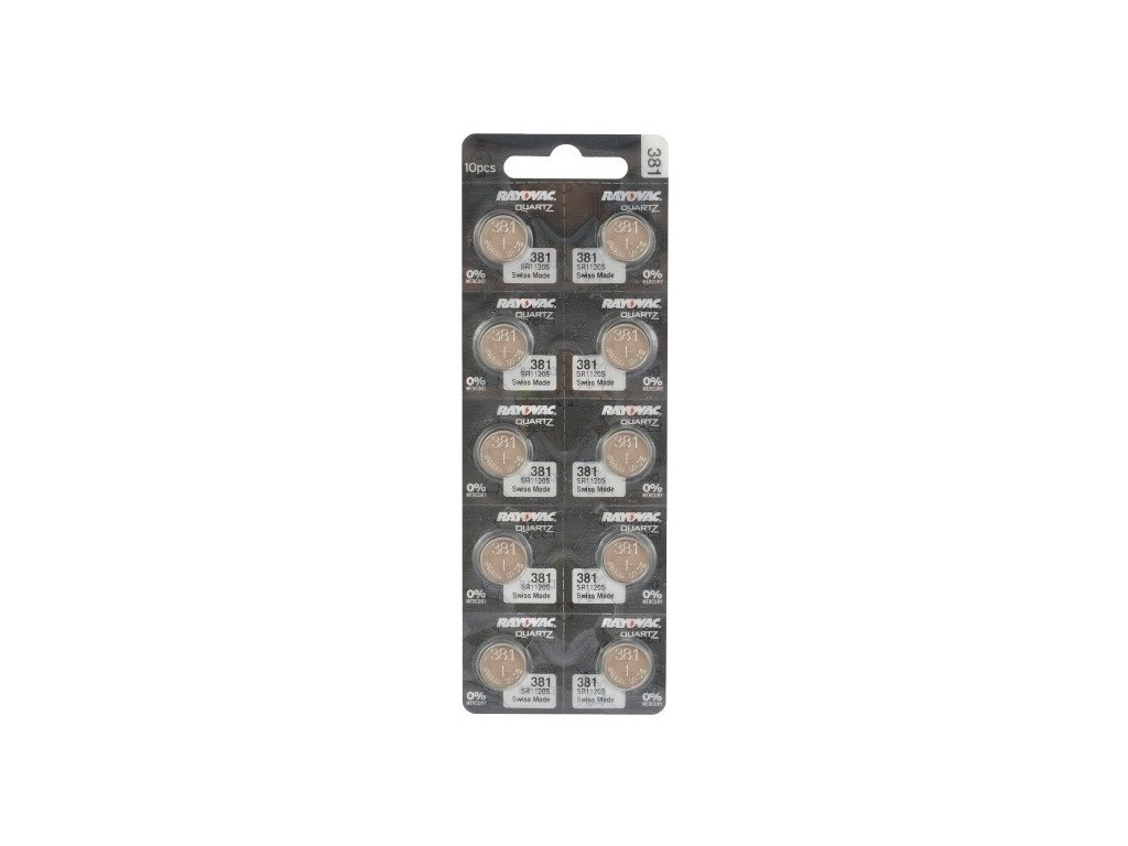 1875 baterie rayovac 381 391 sr1120sw g8 1ks blistr