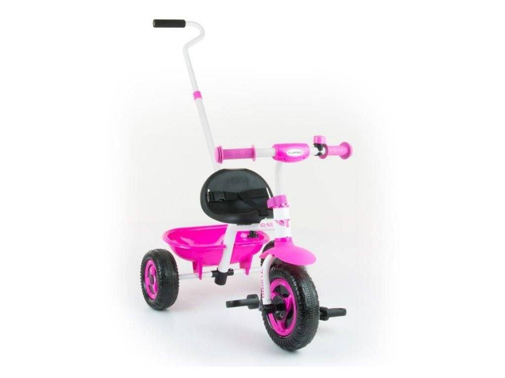 2073 detska trikolka milly mally boby turbo pink