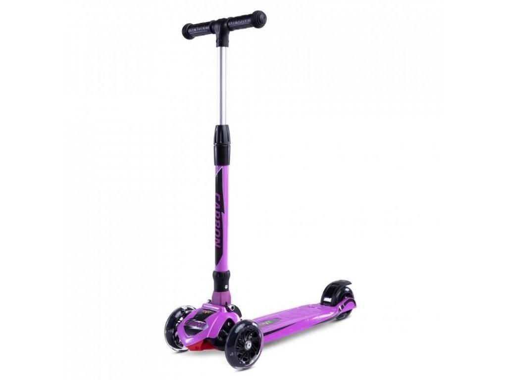 2385 detska kolobezka toyz carbon purple