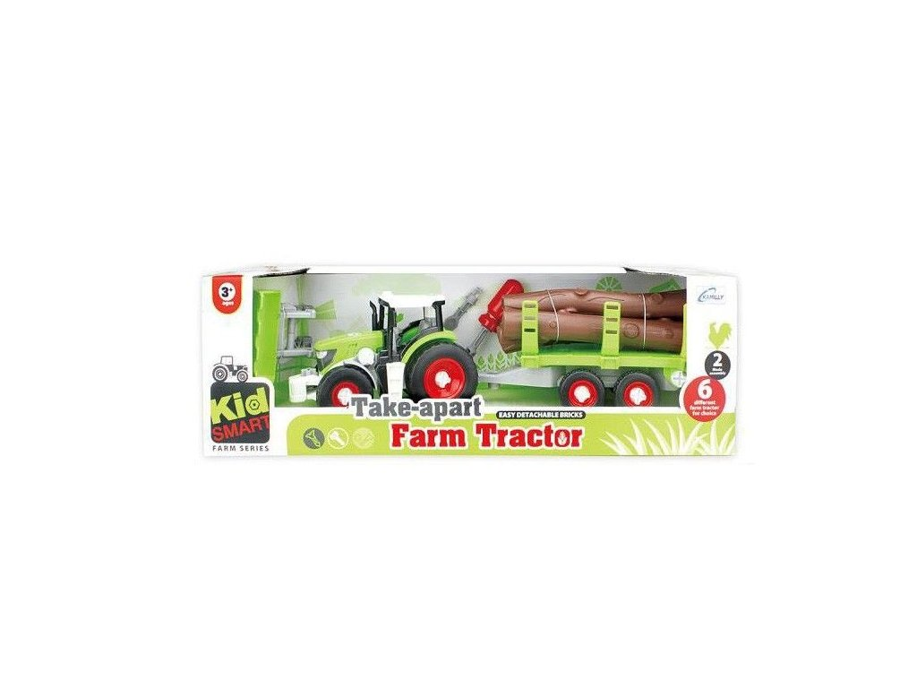 2652 toyz24 traktor s privesem