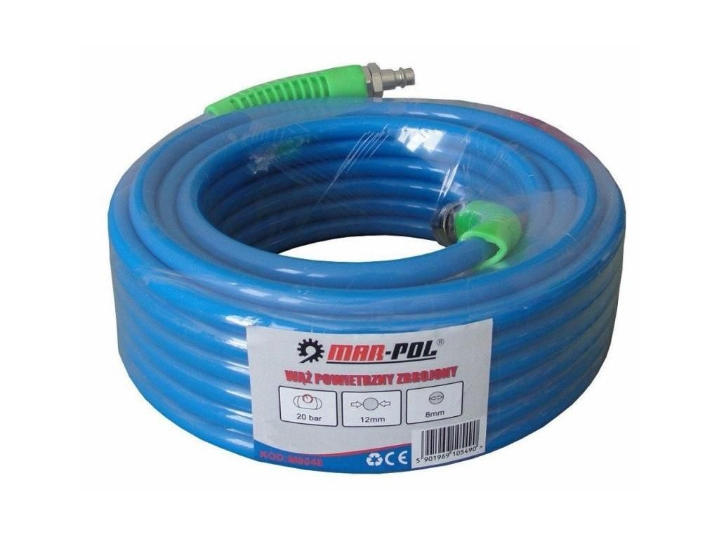 3069 vzduchova hadice s rychlospojkami modra 3 8 delka 15m mar pol m80482
