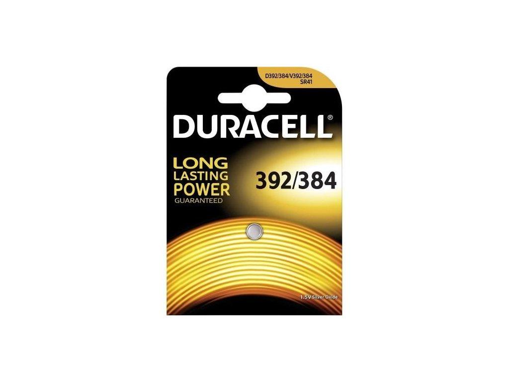 324 baterie duracell 392 384 sr41sw 1ks blistr