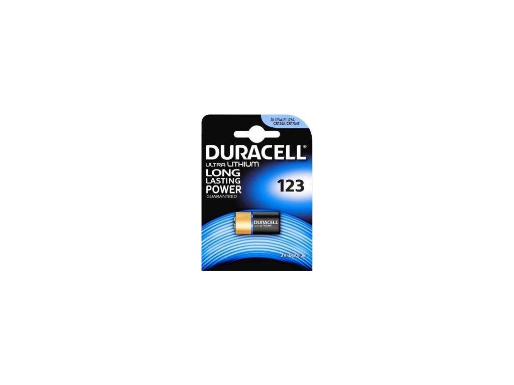 336 baterie duracell cr123 1ks blistr