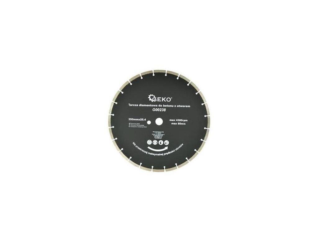 3387 kotouc rezny diamantovy segmentovy na beton 350x25 4mm geko g00238