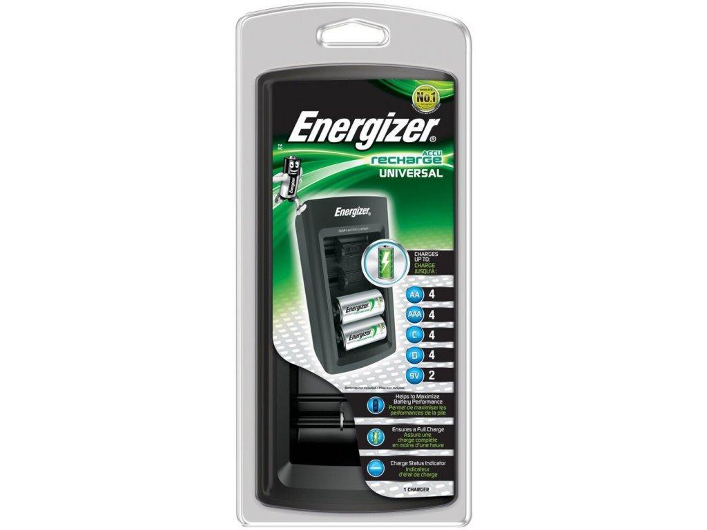 414 nabijecka baterii energizer en001 universal pro aaa aa c d 9v led indikace