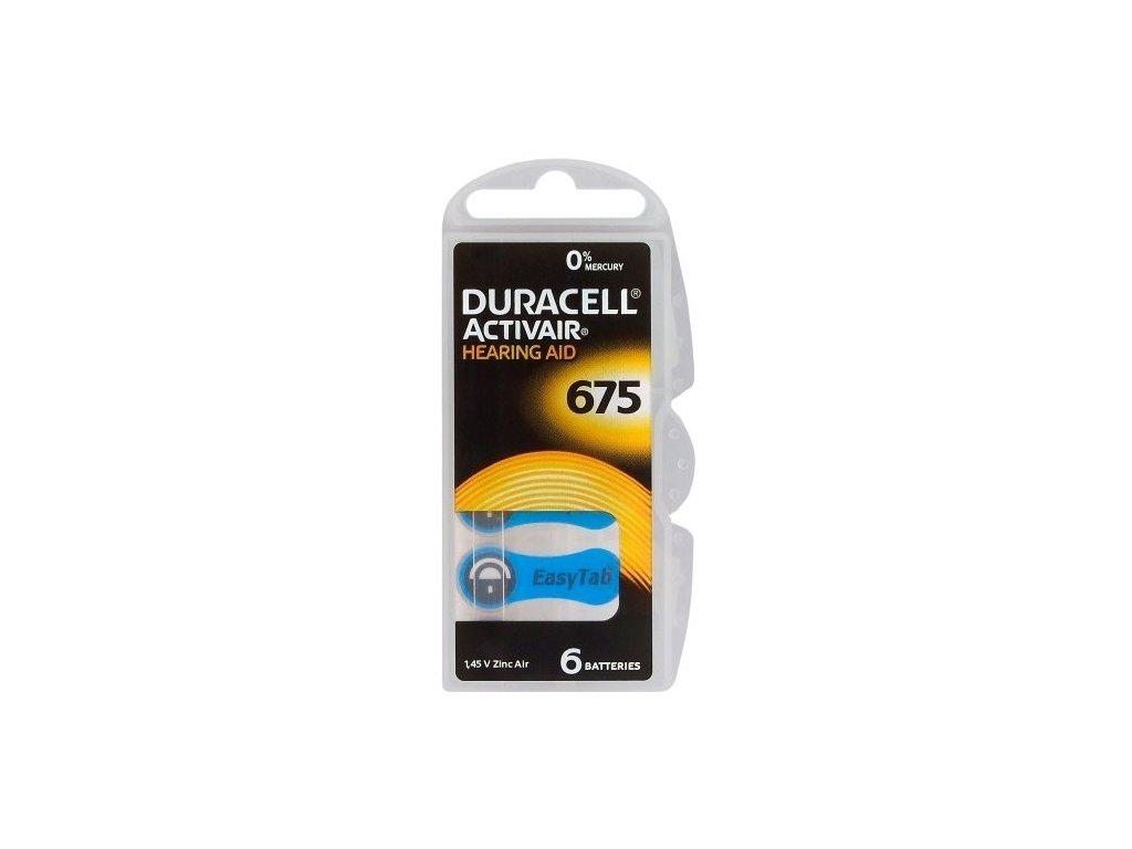 417 baterie do naslouchadel duracell activair 675 6ks box