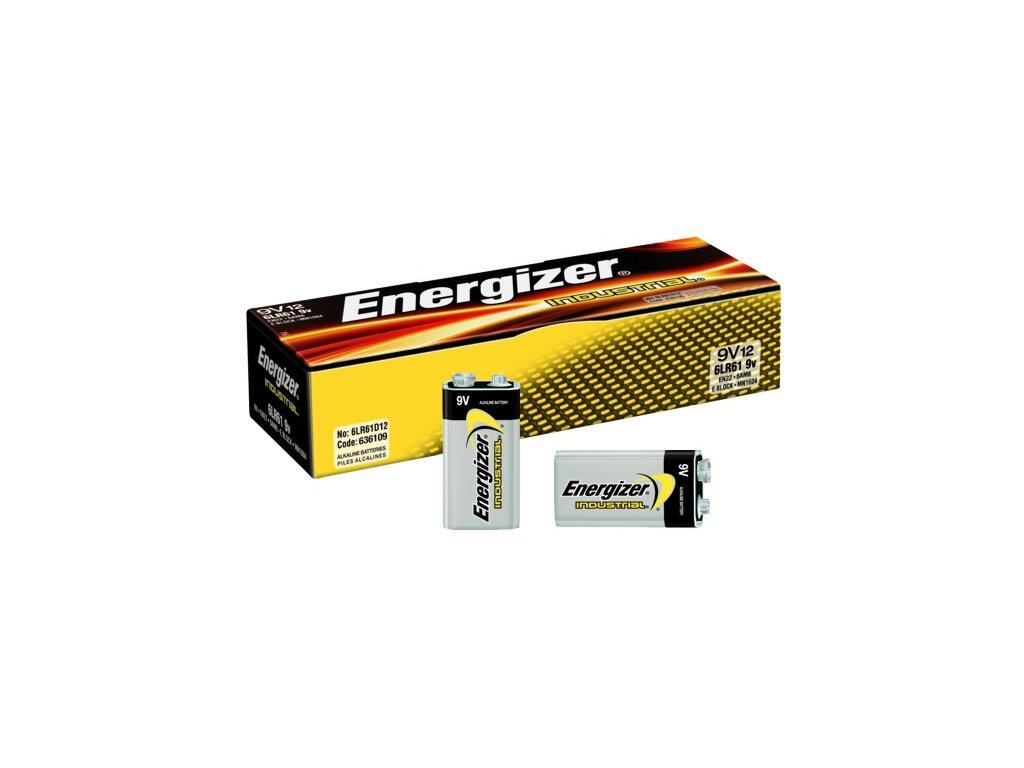 438 baterie energizer industrial 9v 12ks krabice