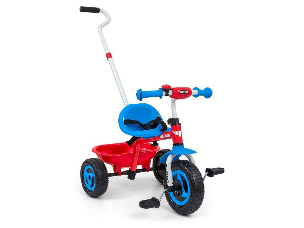 5793 detska trikolka milly mally boby turbo cool red