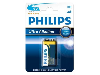 1752 baterie philips ultra alkaline 9v 1ks blistr