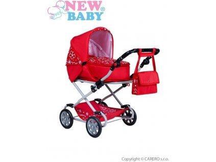 2046 detsky kocarek pro panenky 2v1 new baby monika cerveny