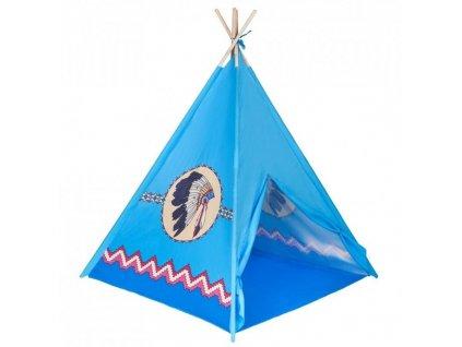 2538 detsky indiansky stan teepee playto modry