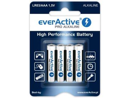 4605 baterie everactive aaa lr03 pro alkaline 4ks blister
