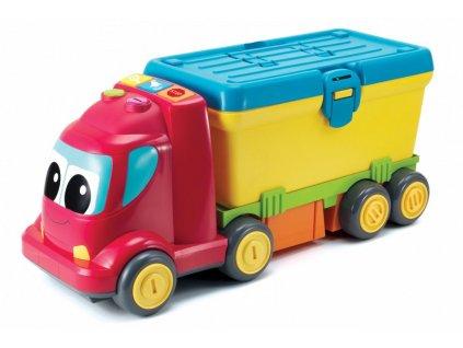 5961 b kids baby auto nakladak pracovni stul 2v1 set s naradim na baterie