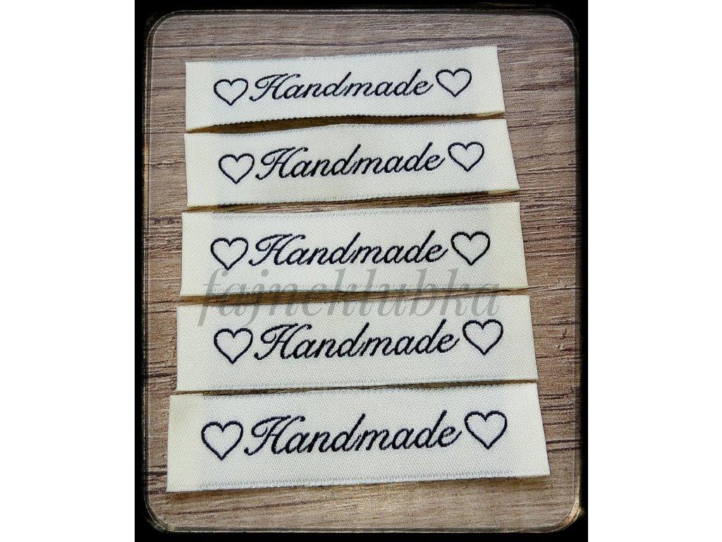 Textilní štítek Handmade