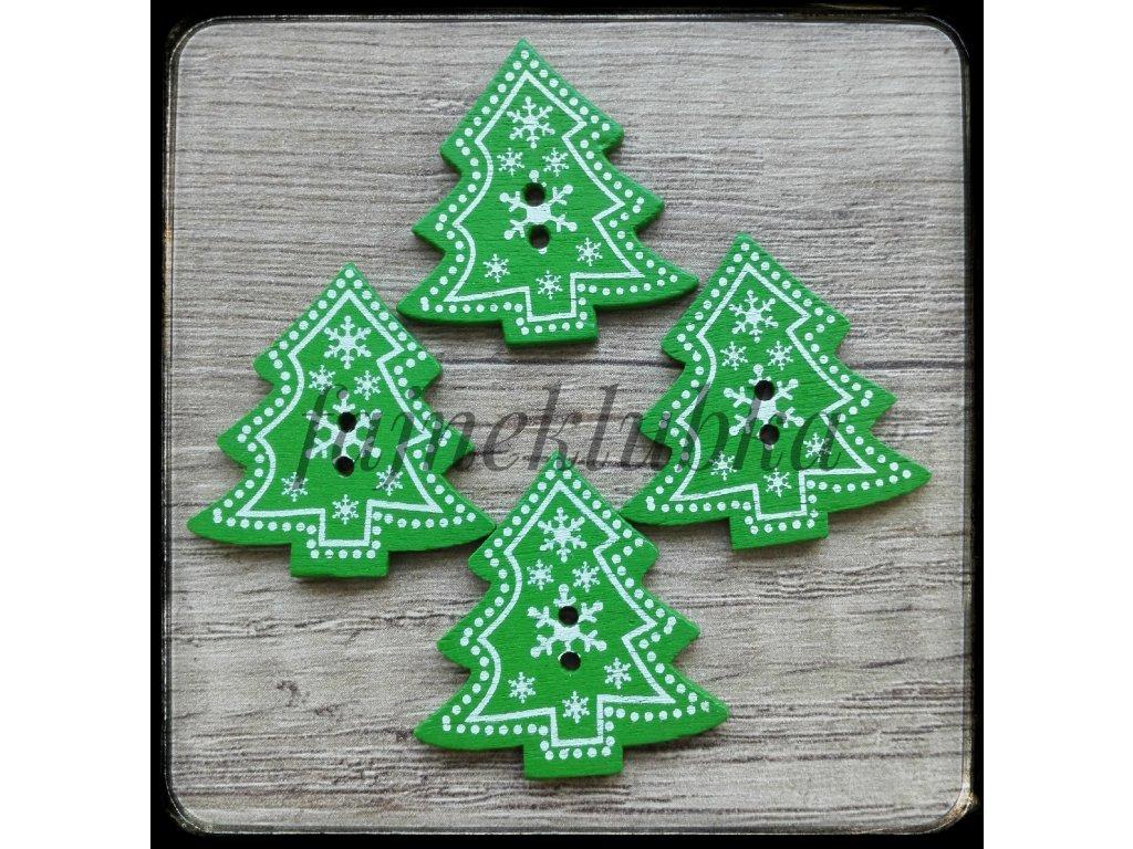 Knoflík Vánoční stromeček