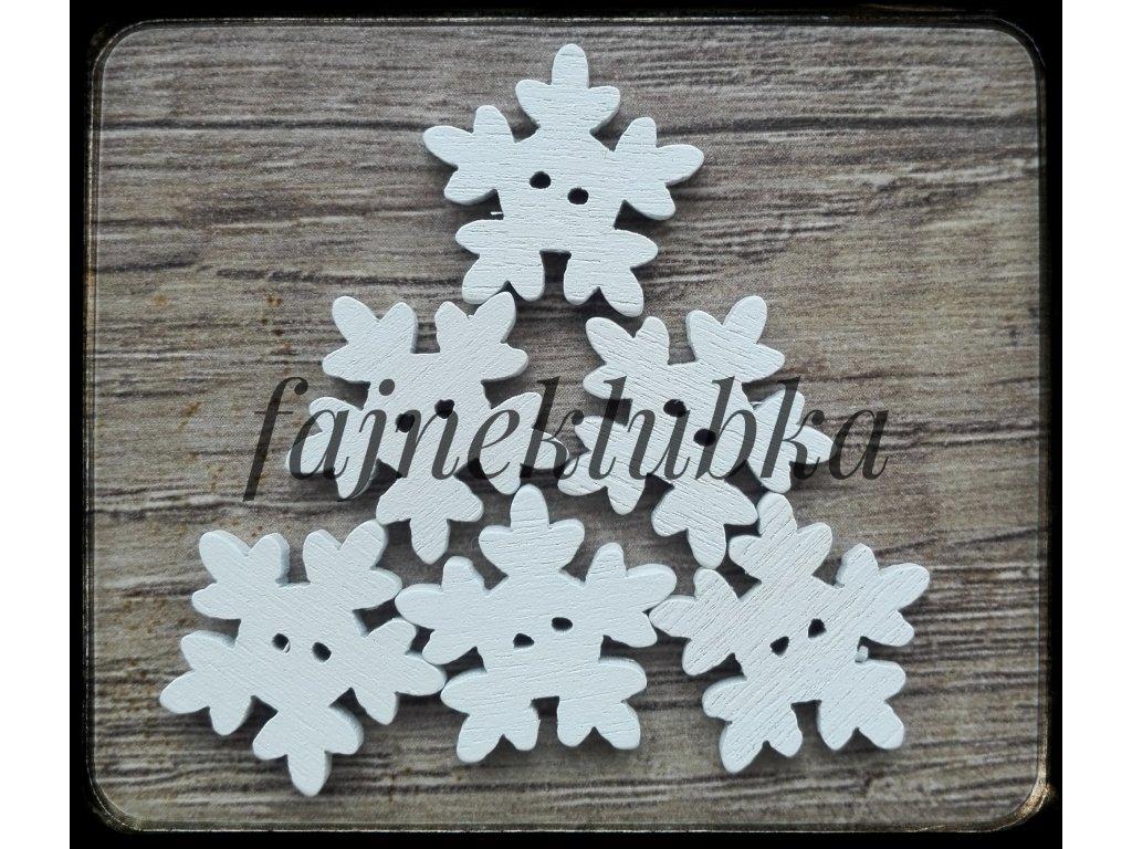 Knoflík Sněhová vločka