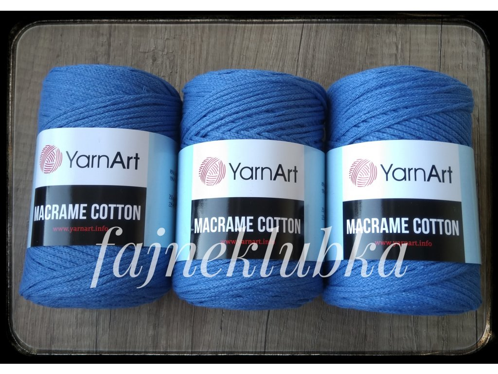 Macrame Cotton 786 Tmavě modrá