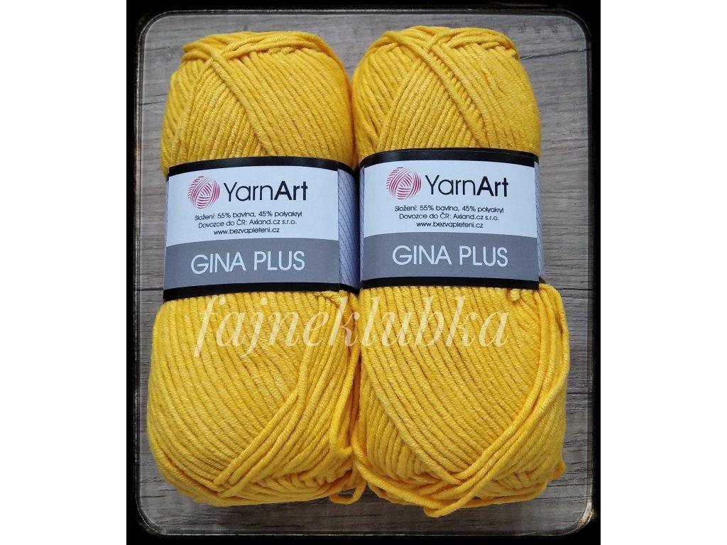 Jeans plus / Gina plus 35 Sytě žlutá