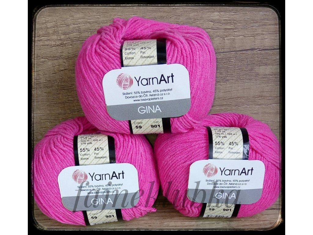 Jeans / Gina 59 Sytě růžová