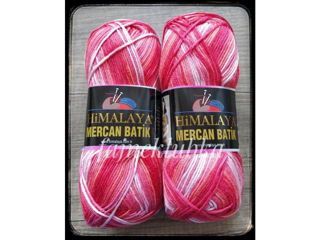 Mercan Batik 59535 Červenooranžový melír