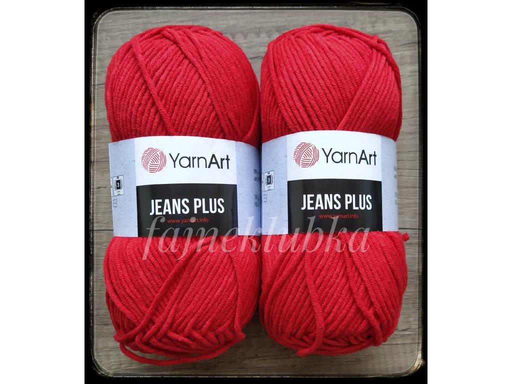 Jeans plus 90 Červená