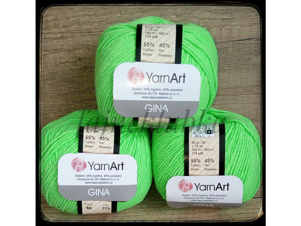 Jeans / Gina 60 Světle zelená