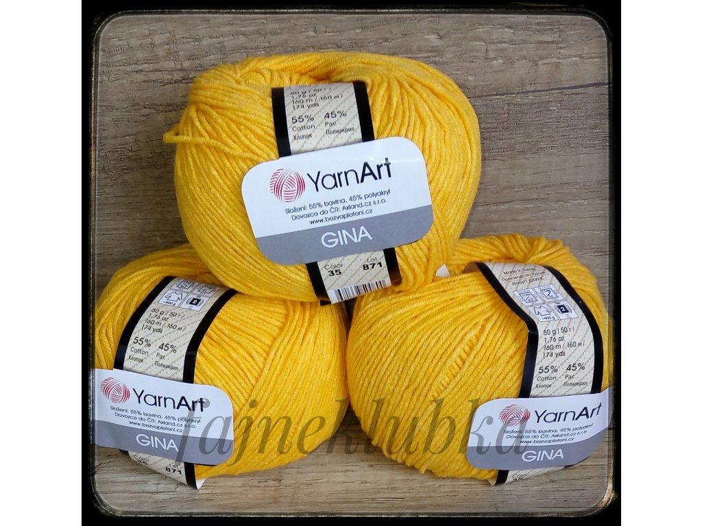 Jeans / Gina 35 Sytě žlutá