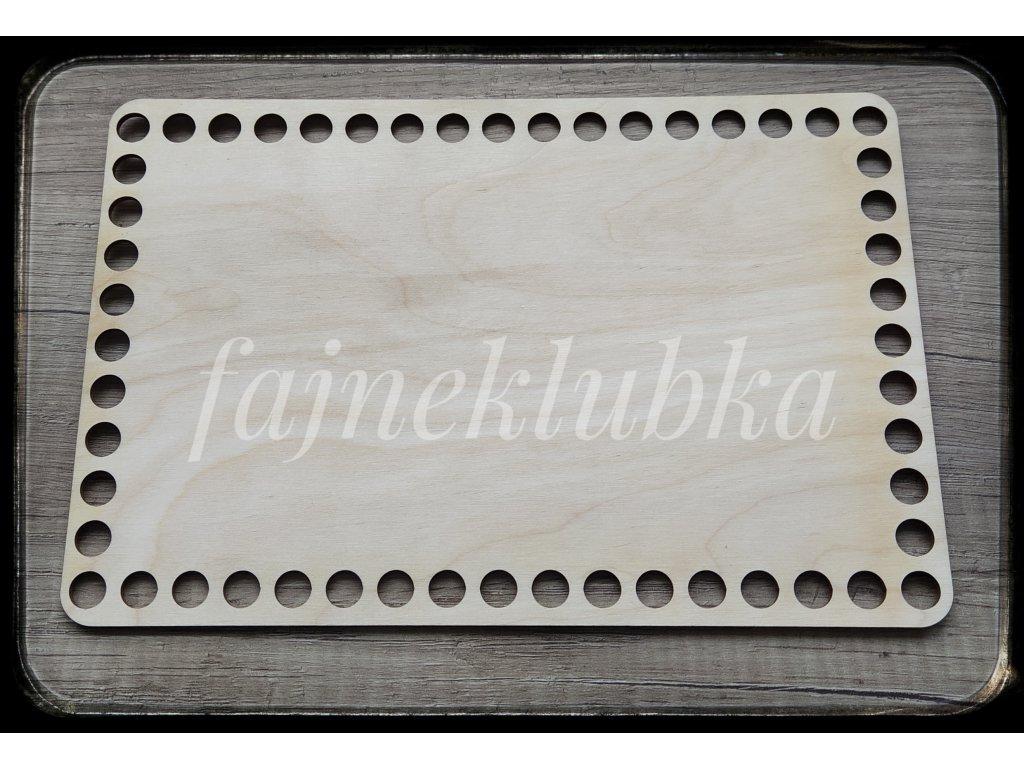 Dřevěné dno obdélník 24 x 16 cm