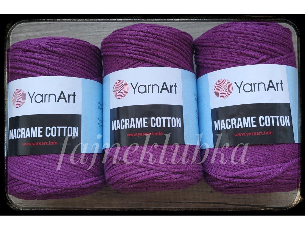 Macrame Cotton 777 Tmavě fialová