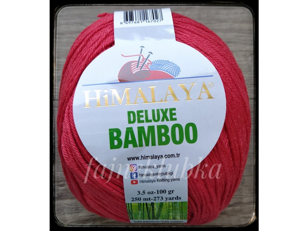Deluxe Bamboo 124-10 Červená