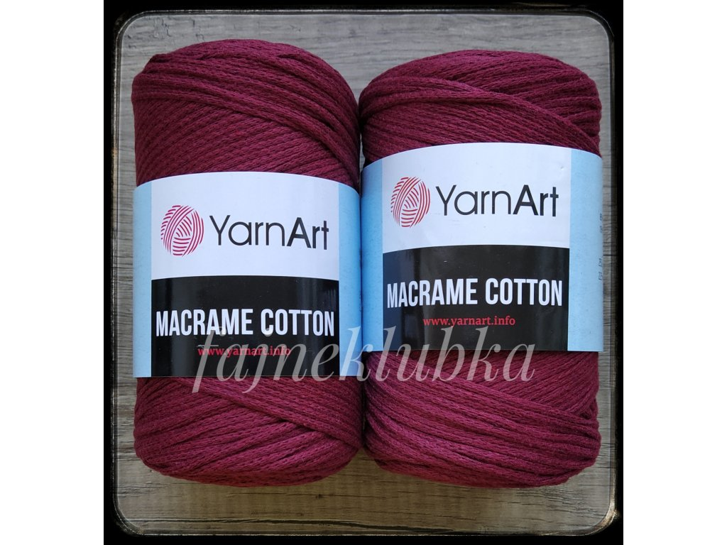 Macrame Cotton 781 Bordó