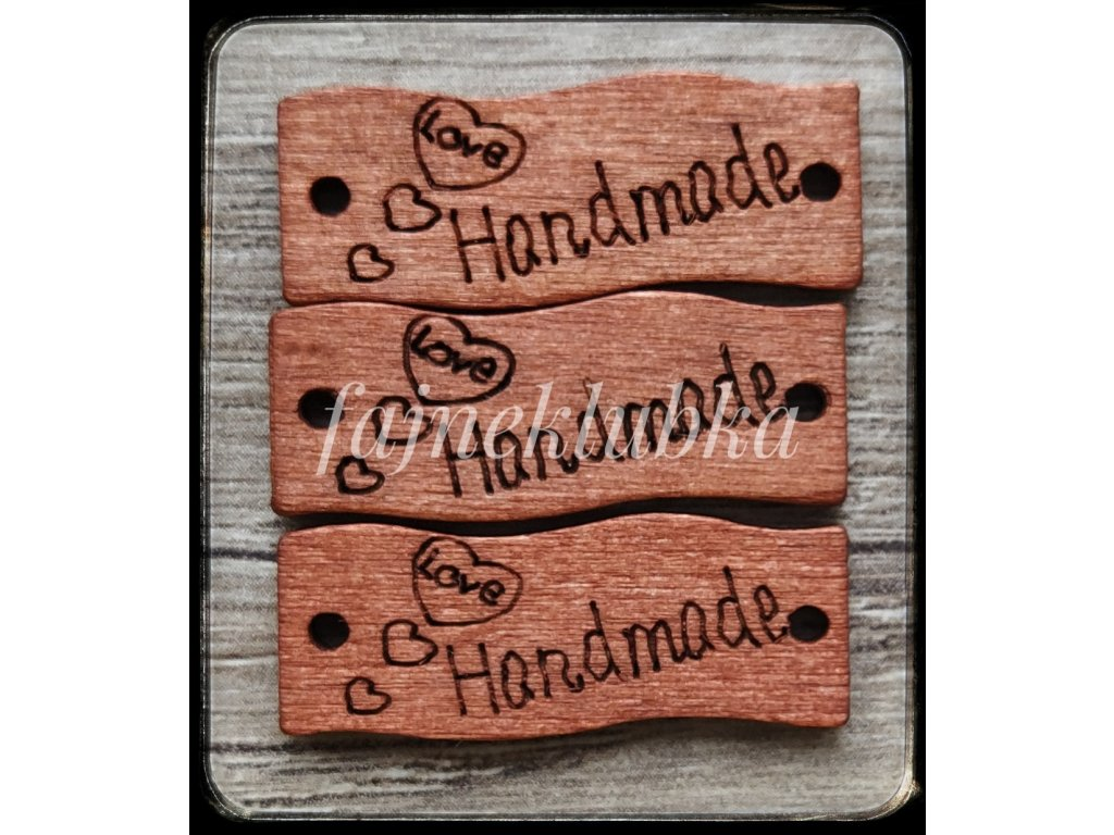 Dřevěný štítek Handmade