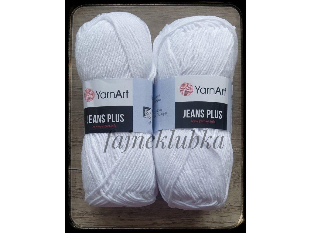 Jeans plus/ Gina plus 62 Sněhově bílá