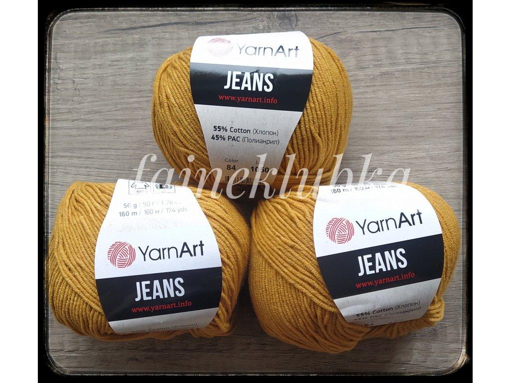 Jeans 84 Hořčicová