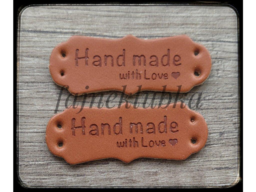 Kožený štítek Handmade II