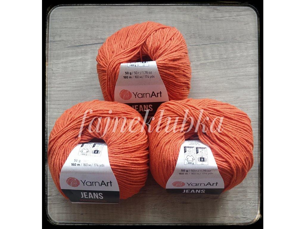 Jeans 85 Tmavě oranžová